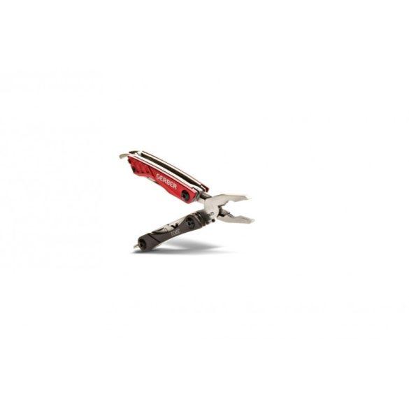 Fiskars Dime kulcstartóra rögzíthető Kombináltszerszám bordó