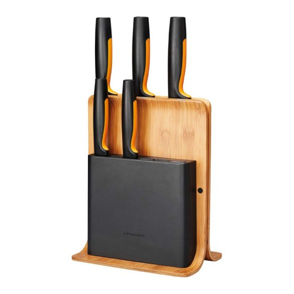 Fiskars FF Késblokk bambusz 5 késes