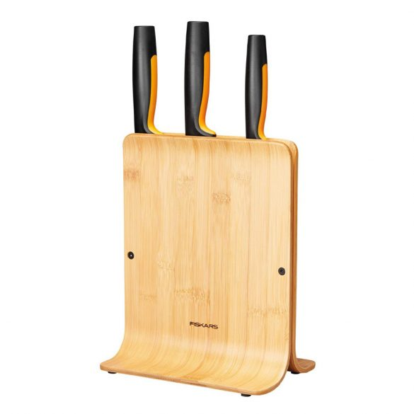 Fiskars FF Késblokk bambusz 3 késes