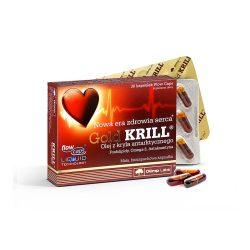 Olimp Labs Gold Krill olaj - Standardizált, szagtalan, adalékanyag-mentes, szabadalmazott FlowCaps™tokban.