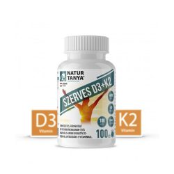Natur Tanya Szerves D3 és K2-vitamin. Természetes, fermentált K2-vitamin (menakinon-7) és maximális 4000 NE bioaktív D3-vitamin, antioxidáns E-vitaminnal