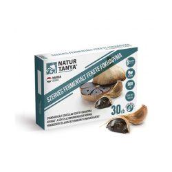 Natur Tanya Fermentált Fekete Fokhagyma - 800 mg szagtalan fekete fokhagyma kivonattal a szív és az immunrendszer normál működéséért, a homocisztein és koleszterinszint fenntartásáért