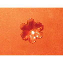 Feng Shui szivárványkristály kis hópihe 30mm, Pozitív energiát, csí-t áramoltatat.