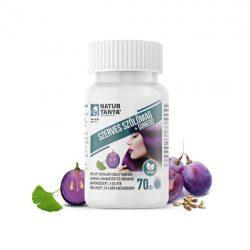 Natur Tanya Szerves Szőlőmag és Ginkgo biloba. 95% OPC, 24% flavon glikozid és 6% terpén laktonra standardizált tabletta