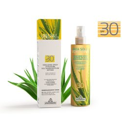 Specchiasol Verattiva 30 faktoros Napozó spray - Arcra/Testre. Nem tartalmaz: paraben, alkohol, OGM, SLES, SLS.