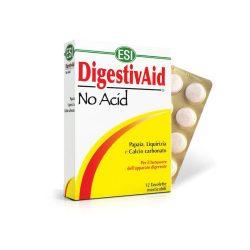 ESI No Acid-Stop a savaknak!- Lúgosító-savlekötő szopogatós tabletta, gyomorégésre, puffadásra. 12x